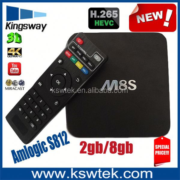 Wholesale google full hd 4k m8s smart tv box quad core m8s android tv box camera