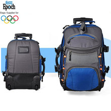 Custom Epoch top quality function detachable backpack trolley luggage with convenient front pocket
