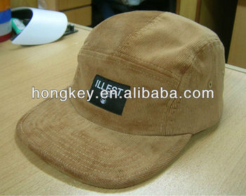 custom high quality flat brim 5 panel camp caps and hats in china