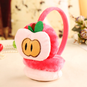 Watermelon Strawberry kids Cartoon Fruits Plush Earmuffs fluffy Plush girls ear cover in winter warm Ear muffs ear protector