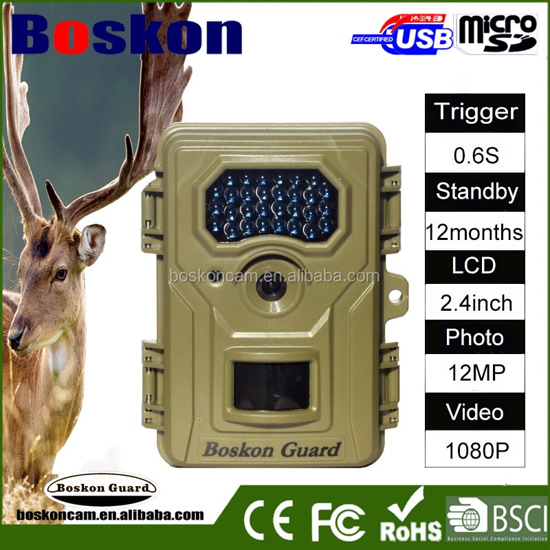 2016 Best Selling Product 1080P 12MP GPRS GSM MMS SMS Outdoor Motion Detection Hunting Trail Camera