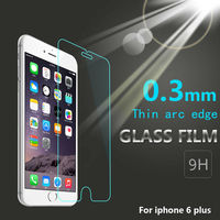 2014 New arrivel !! Mobile Phone 9h 0.33mm tempered glass screen protector for iphone 6 plus