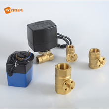 "Electric Motor For Small Equipment Automatic Control Motorized Ball Price 3way 3/4"" Inch T20-s3-c Detail 2 Way Water Valve"