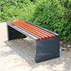 Outdoor garden wpc waterproof metal frame anti corrosion wooden bench