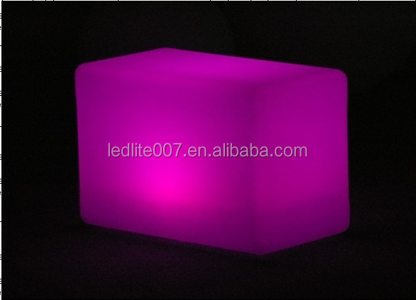 Color changing furniture rechargeable LED Chair LED cube/bar chair