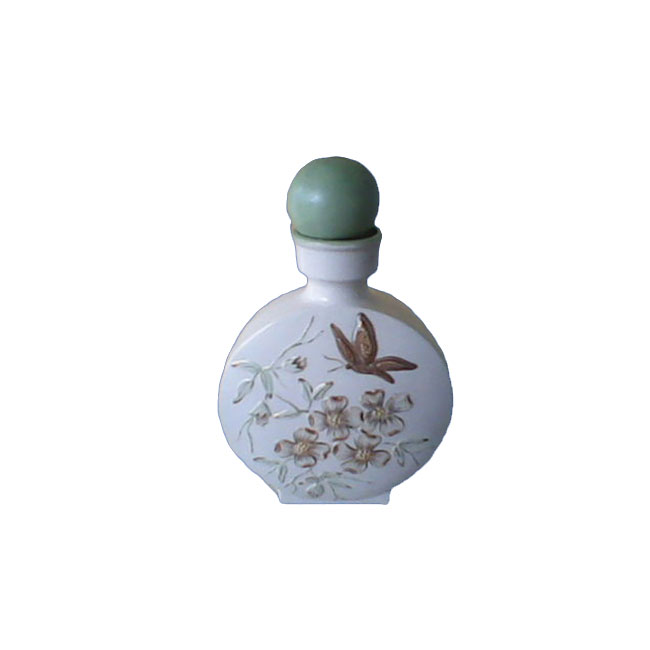 Raised Butterfly Ceramic Nice Perfume Empty Bottle