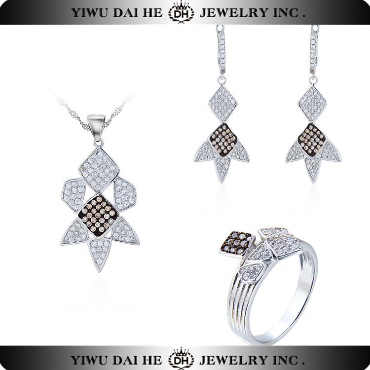 DAIHE 925 sterling silver fashoin costume jewelry imported jewelry set in china