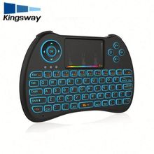 2018 new product mini qwerty keyboard with control keys smart fly Air mouse H9 backlit keyboard mart Portable PC