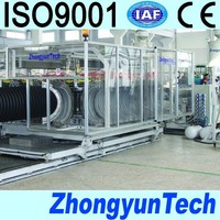 hdpe dwc corrugated pipe making machine