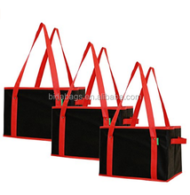 Large Deluxe Collapsible Reusable Grocery Shopping Box Bag with Reinforced Bottom
