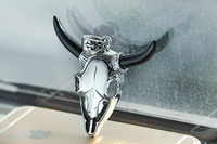 Hot sale 316l stainless steel hip hop fashion punk style animal head bull demon pendants