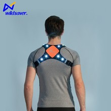 LED light reflective vest for running or cycling