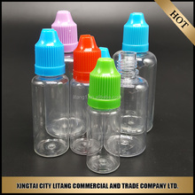 China manufacturer of smoke oil bottles small pet bottle with childproof cap