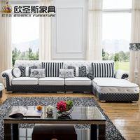 Livingroom sectional Modern new classic Europe design L shape white italy corner leather sofa set 112LW
