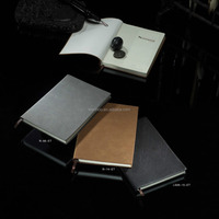 A4 A5 A6 size promotion vintage pu leather cover left handed recycled paper notebook