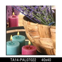 Pre printed canvas to paint custome frameless candle light up canvas prints with LED