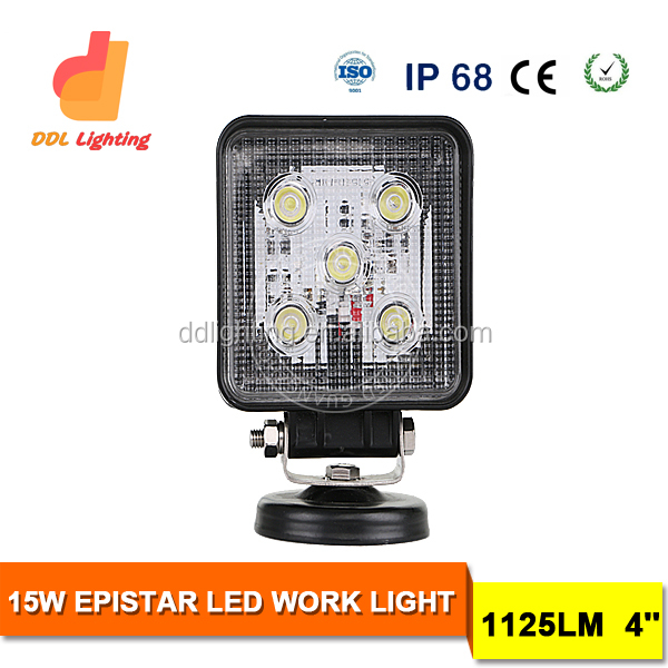 Chinese motorcycle parts IP68 waterproof 15W led truck work light,LED flood light