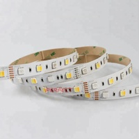 factory wholesale price 5m/roll full color W/R/G/B/W led strip light , 24V dc