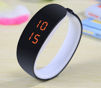 China wholesale touch custom waterproof silicone LED watch