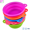 Portable Silicone Travel Folding Bowl collapsible Pet Bowl
