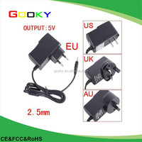 5v android tablet pc charger for allwinner A23 A33 Q88 2.5mm port Tablet PC