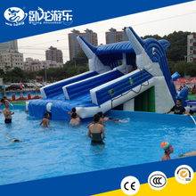 lake inflatable water slides, inflatable floating water slide