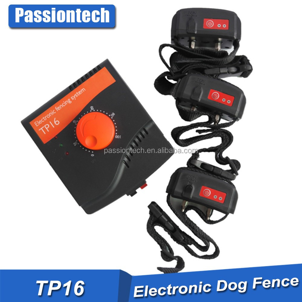 Radio Frequency ( Wires to bury ) Dog Fence /pet containment system with Variable Intensity Rechargeable Collar