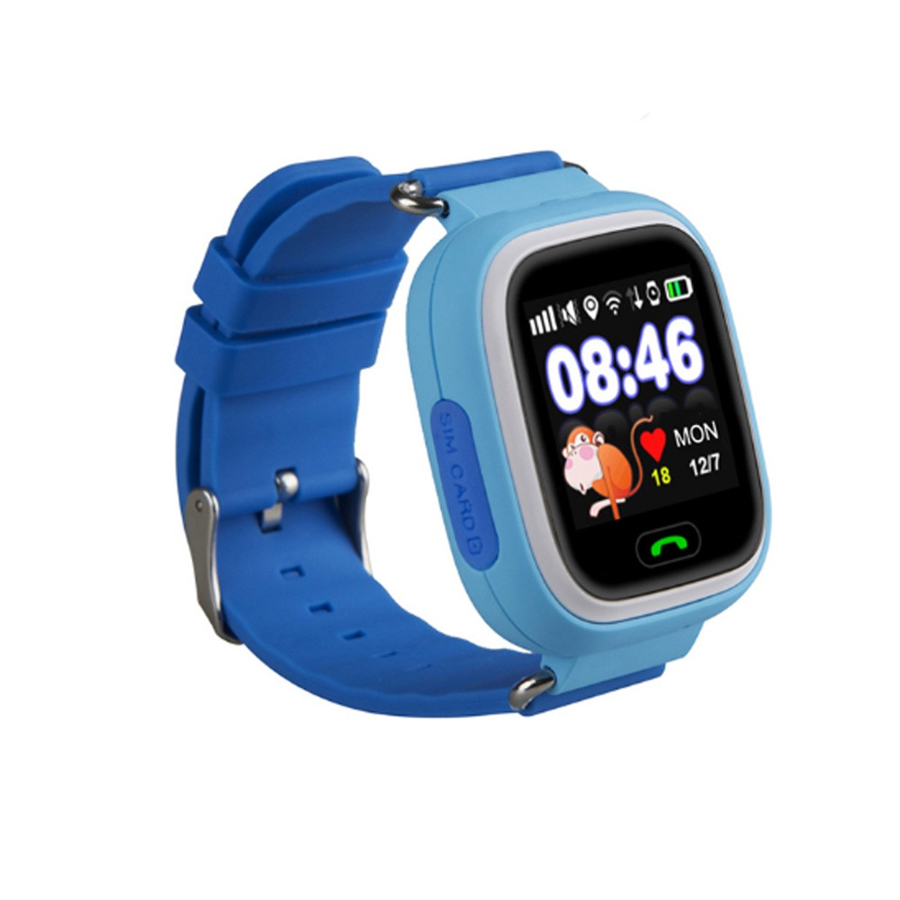 High quality and best selling wifi location smart mobile watch phones for kids Q100
