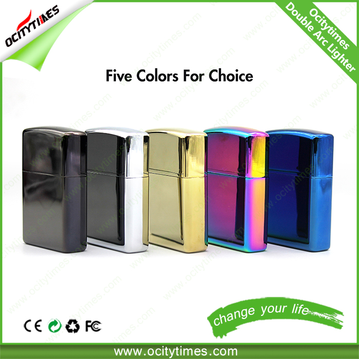 China online shopping USB lighter Plastic metal usb rechargeable electronic cigarette lighter
