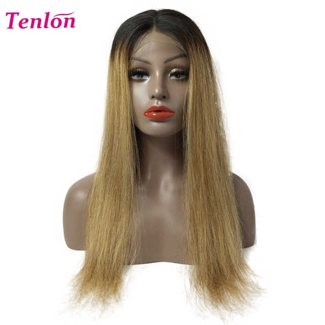 vendors cheap real human hair wig straight blonde ombre braided lace frontal wig