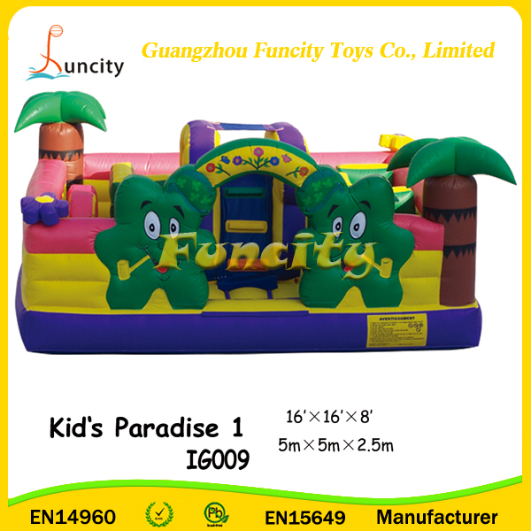 16'x16'x8' Kid's Paradise, Cheap Commercial Inflatable Bouncy Castle, Jumping Bouncer for Sale