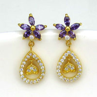 Indian Jhumka Earring Fashion Wholesale Bollywood Jewelry Designs for Ladies