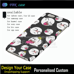 Dropshipping support for custom sublimation 3d cases,for iphone 7 / 7plus hard back cover high quality mobile phone accessories
