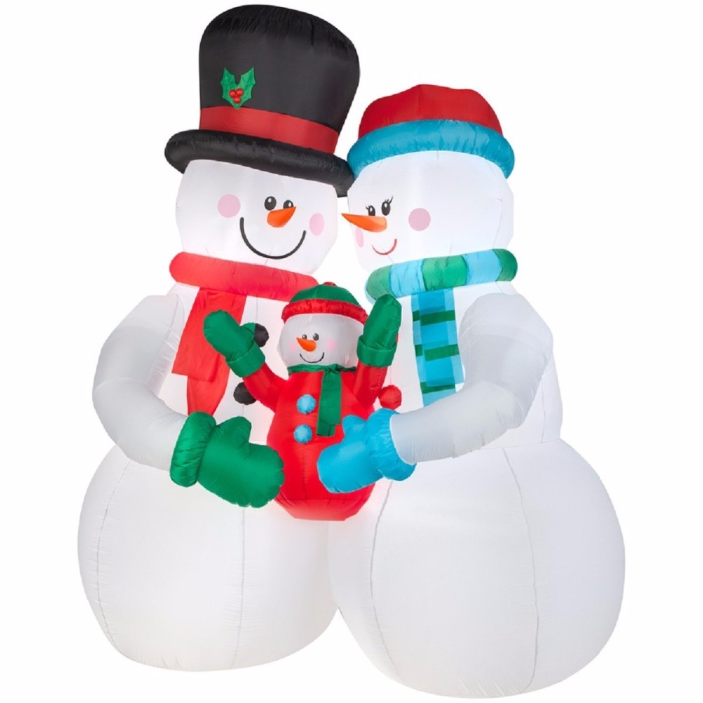 China suppliers christmas decoration ornament party supplies gift inflatable snowman family