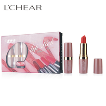 LCHEAR brand Love Bird Beauty Makeup Lipstick 6 Velvet Colors Moisturizer Lipsticks Super Long Lasting Waterproof Cosmetics