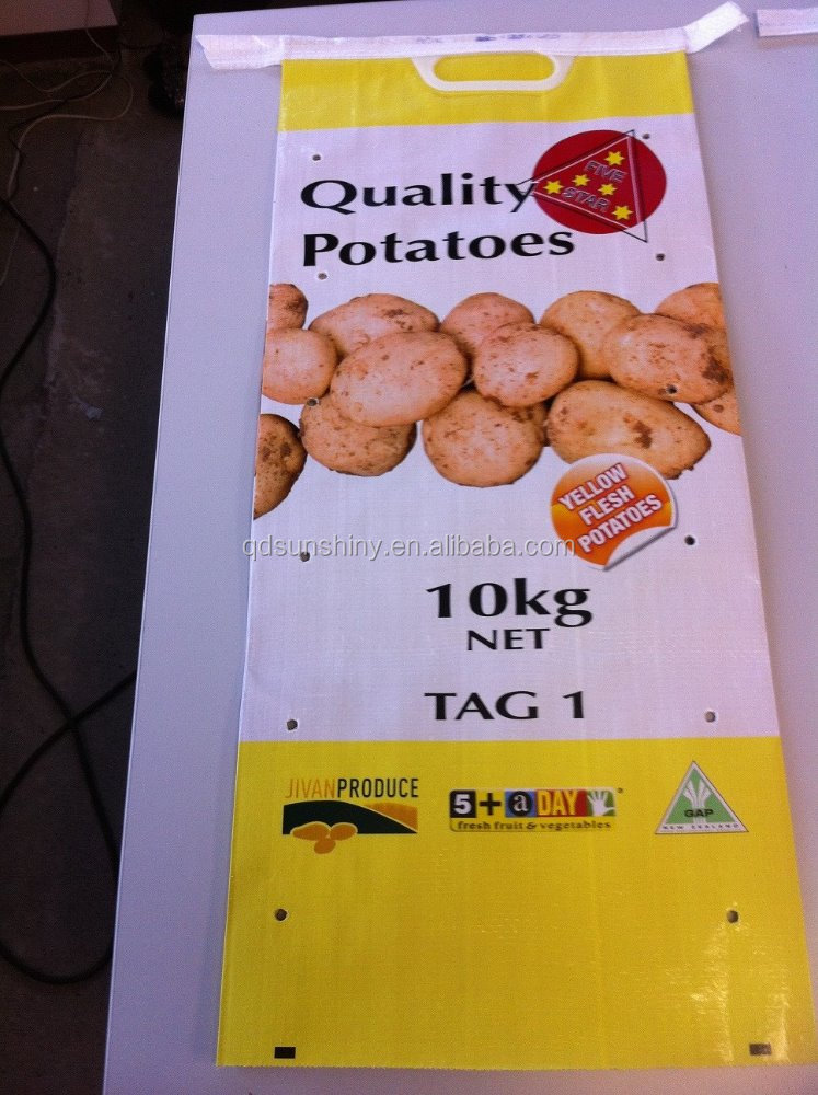 100% new material Plastic Laminated Paper Sacks for potato Polypropylene Woven Bags