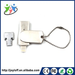 Brilliant Quality Dual Double Plug Interface Otg Mobile Phone Gift Stock Actions Hs Usb Flash Disk