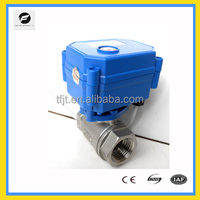"CWX-15Q 2way 12vdc/24vdc bronze 1/2"" CR01 electric water flow control ball valve for water leakage detection system"