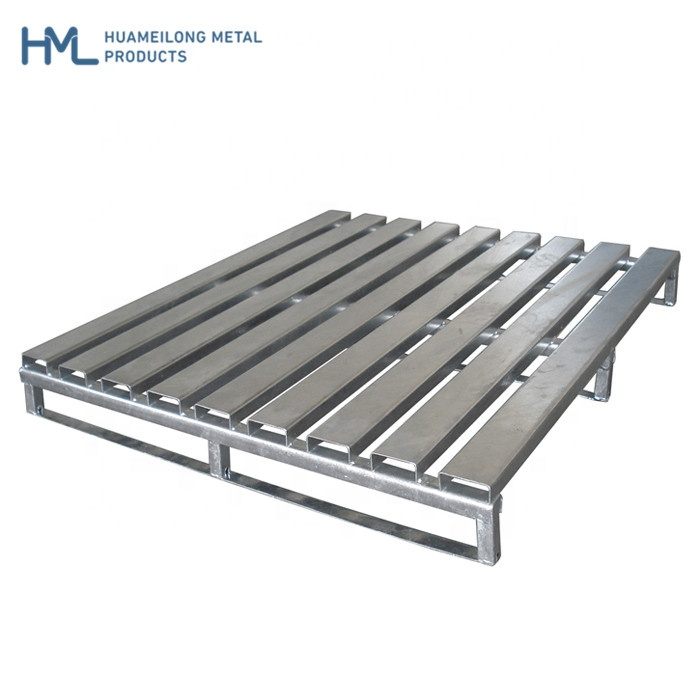 Heavy Duty Customized Industrial Storage Steel 2 Entry Way Galvanized <strong>1000</strong> <strong>x</strong> <strong>1000</strong> Metal Pallet For Warehouse