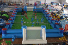 football court inflatables , LZ-124 top quality mini inflatable football field for sale