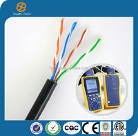 Passing Ethernet Cable Tester Shielded Twisted Pair PVC Jacket Cat5e UTP FTP Solid 4p 24awg Lan Cable