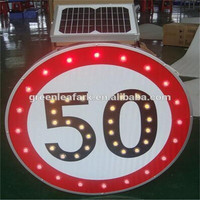 RSG long working time solar traffic signs