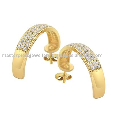 Gold Jewellery Diamond Earring Sterling Silver Jewelry Wholesale Distributors Unusual