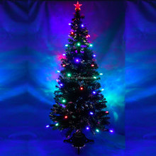 6FT Fiber Optic Artificial Christmas Tree With LED Light Ball Decoration