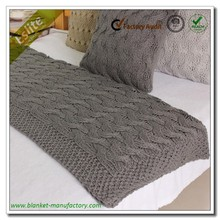 Chunky Cable Knitted Handmade Throw Blankets