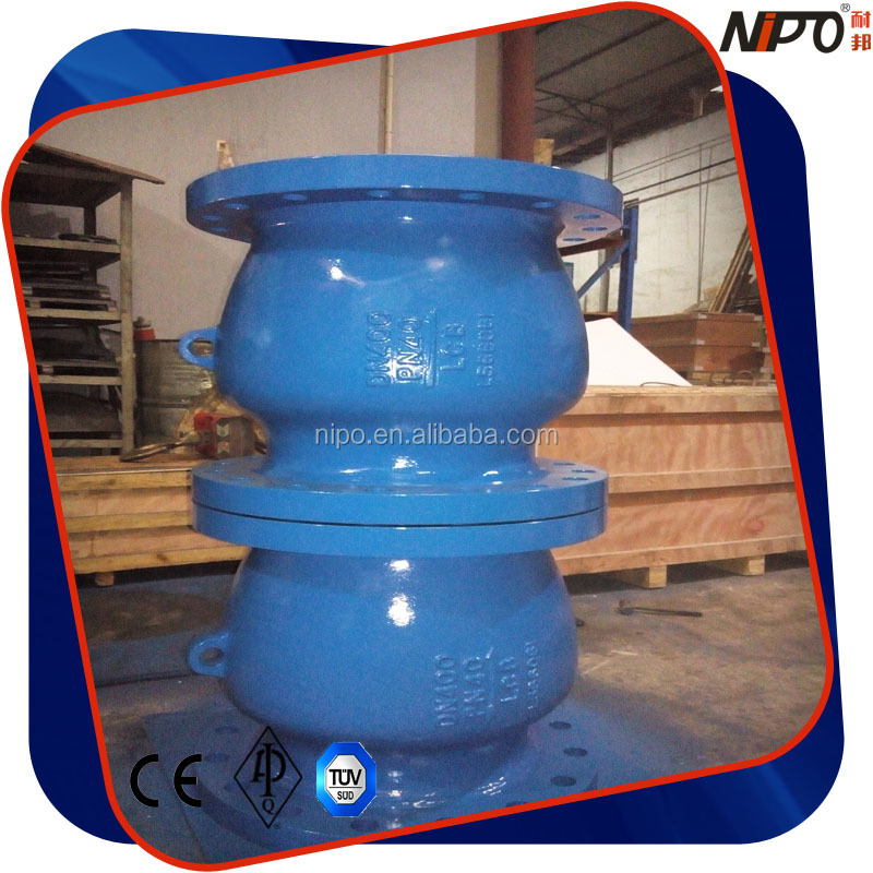 LCB Flanged Non Slam Nozzle Axial Flow Check Valve Big Size PN25