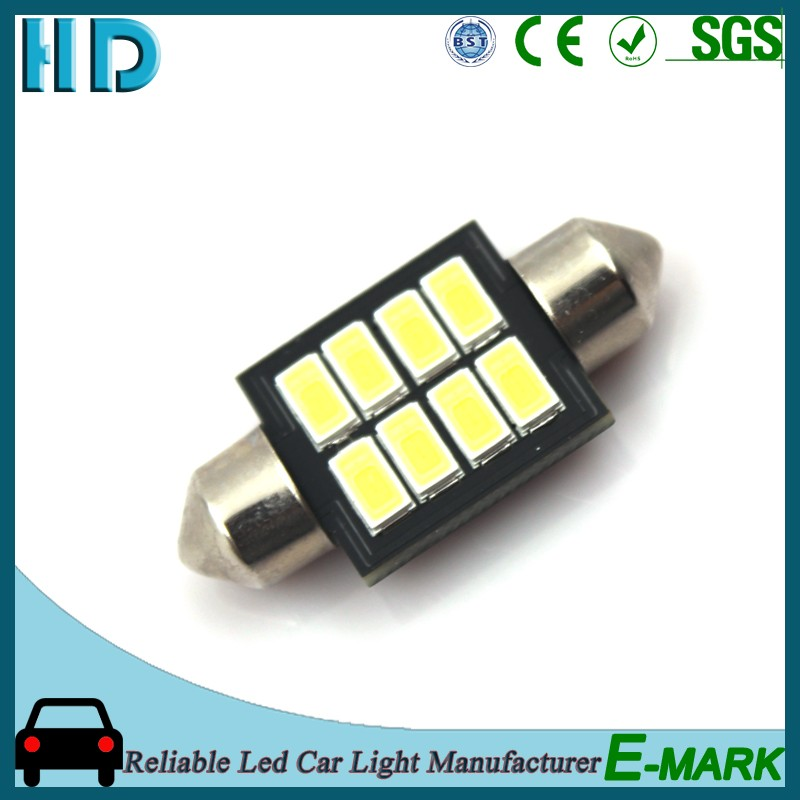 2016 T10*36 3014 8SMD 5730 12V CANBUS bus car led reading lights on USA market