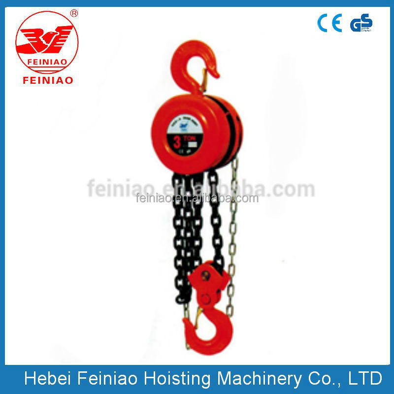 Max capacity 15TON chain block hand pull lifting small machine/winch/crane