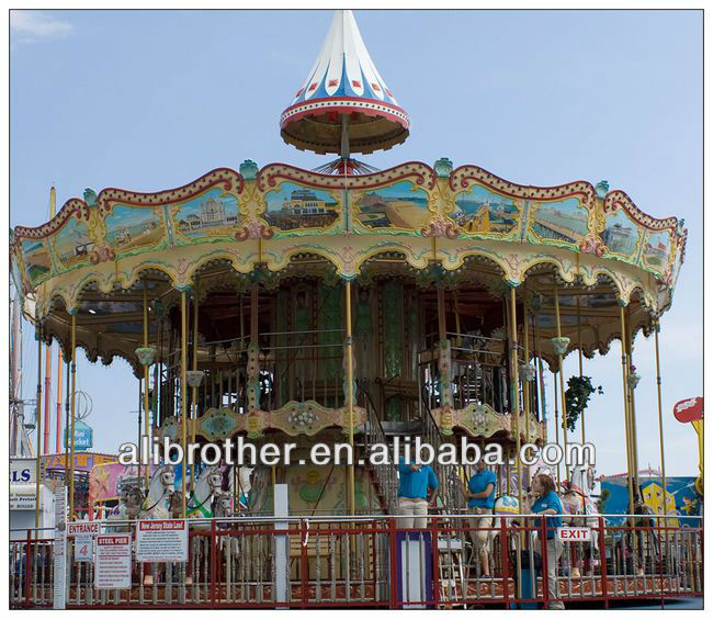 [Ali Brothers]Shopping mall 36 seats double deck carousel for sale