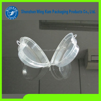 Clear heart shaped shell shaped plastic blister packaging container small box